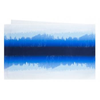 Linik sinine/valge 45x140cm 100% puuvill