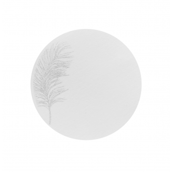 Lauakate 38cm sädeleva sulega valge