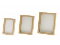 Pildiraam 3tk puidust raamiga