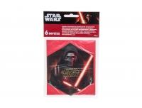 Kutse Star Wars 6tk + ümbrikud