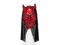 Halloween mask kapuutsiga punane