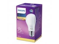 LED lamp Philips 75W E27 A60 matt klaas