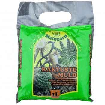 Kaktusemuld pH4,6-5,5 1L Matogard