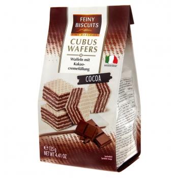 Kakaomaitselised vahvlid Cubus 125g