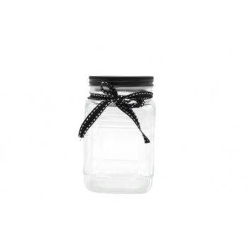 Klaaspurk 700ml/9.5x9.5x14cm must lips