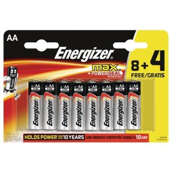 Patarei AA Energizer Max 8+4 micro