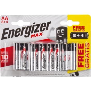 Patarei Energizer Max AA 8+4tk