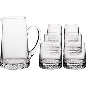 Klaaskann 1l + 6 klaasi 300ml Krosno