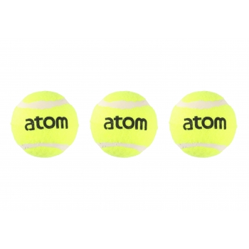 Tennisepallid 3tk Atom 65mm 56g