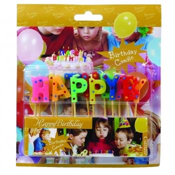 Küünlad Happy Birthday 13tk