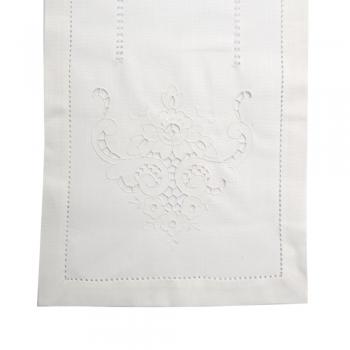 Laualinik 40x140cm lilleornament valge