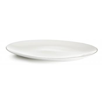 Vaagen 36,5x27cm valge keraamiline