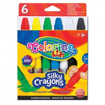 Vahakriidid Colorino Silky 6värvi