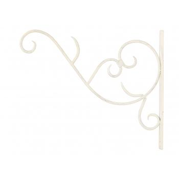Hoidik laternale metallist valge 38cm