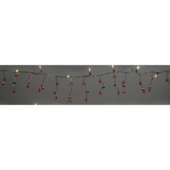 Valguskett 10LED 2xAA roosa