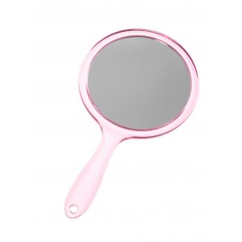 Peegel MINEAS käepidemega roosa