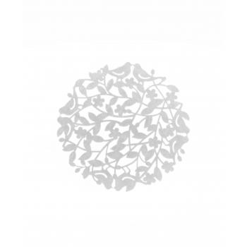 Lauaplate Linnud 38cm vildist valge