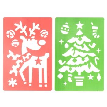 Šabloon jõuluteemaline 25x14,5cm 2tk