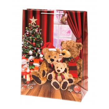 Kinkekott 26x33cm Jõulukarud