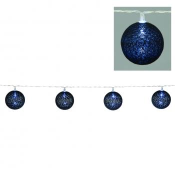 Valguskett lõngapallid 10LED musta värvi