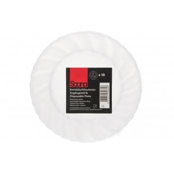 Plasttaldrik Saana 15CM 10tk läbipaistev