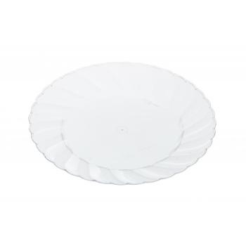 Plasttaldrik Saana 26cm 10tk läbipaistev