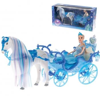 Nukk Crystals 29cm hobuse ja kaarikuga