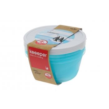 Külmikukarp Keeeper 1,75L/4tk ümar