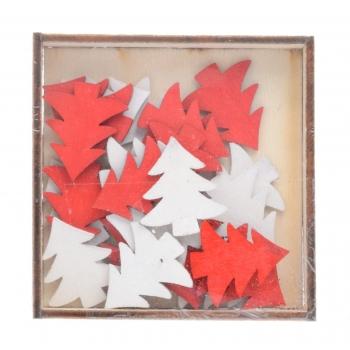 Jõulumotiivid puidust 2,5-3cm 24tk