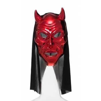 Mask kapuutsiga punane