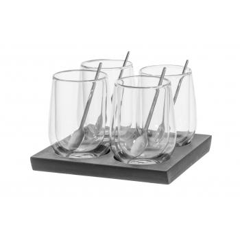 Kuuma joogi klaasid Maku 4tk/200ml+alus