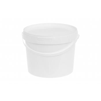 Ämber kaanega 3L plastik valge