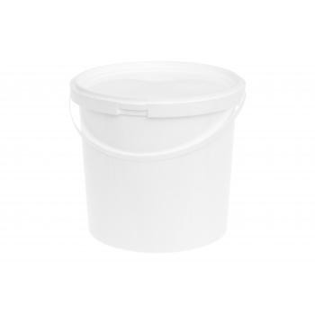 Ämber kaanega 5L plastik valge