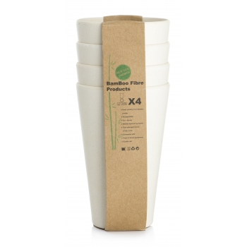 Joogitops Bambus 400ml/4tk valge
