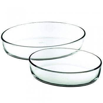Küpsetusvormid ovaalsed 2tk, klaasist