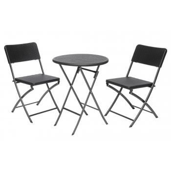 Laud+2 tooli 4Living Plaza kokkupandav