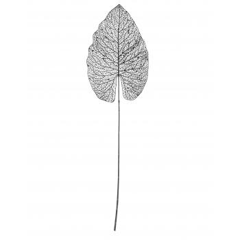 Dekoratsioon leht metallist 80cm