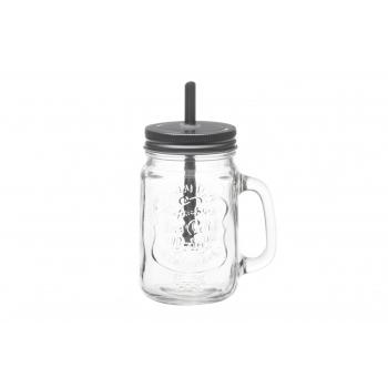 Joogipurk kõrrega 450ml klaasist