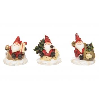 Käsitöötarvik Jõuluvanad 4cm 3tk