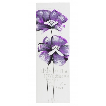Seinapilt Purple Flower 30x90cm