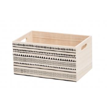 Puidust kast 31x20x16cm mustriga