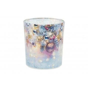 Lõhnaküünal klaasis Jõuluaeg 22h
