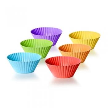 Muffinivormid 6tk silikoonist,värvivalik