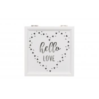 Karp puidust Love 17x17x6,5cm