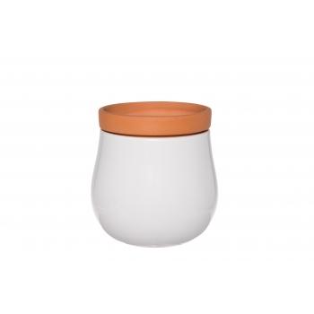 Lillepott Double pott+ümbris 12cm