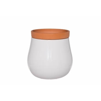 Lillepott Double pott+ümbris 15cm