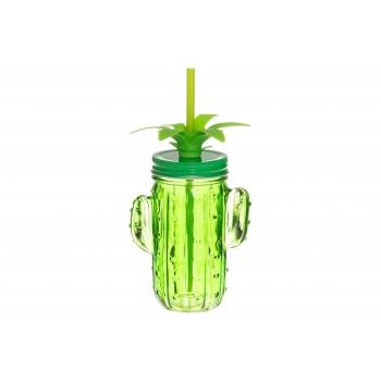 Joogipurk kõrrega Kaktus 350ml