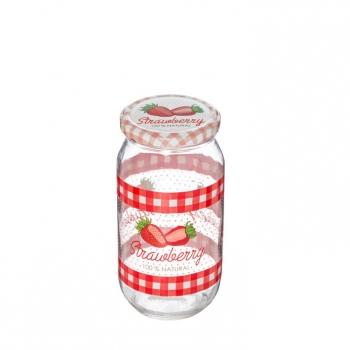 Kaanega klaaspurk Maasikas 1L