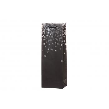 Kinkekott pudelile 32x16,5cm Hõbevihm