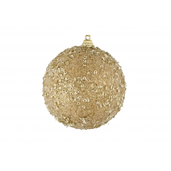 Kuusemuna 8cm glitteriga kuldne